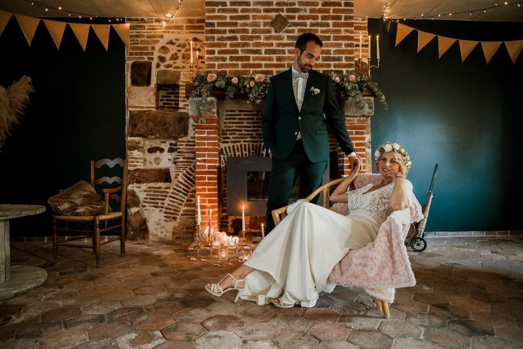 Un mariage au domaine des Tourelles de Fonville // Shooting d'inspiration publié sur Wedding by Fabiola