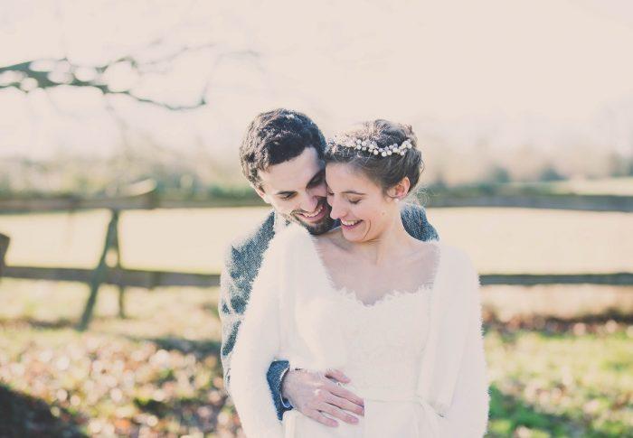 Le chaleureux mariage d'Hannah et Damien dans la douceur et la féérie de l'hiver