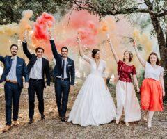 Le mariage d'Anne et Alexis dans un mas provençal et aux couleurs tropicales